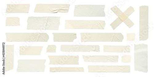 Carta da parati Close up of adhesive tape wrinkle set on white background