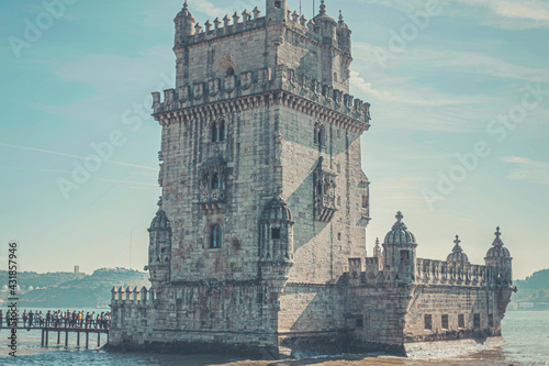 Canvas Print lisboa castelo belém portugal