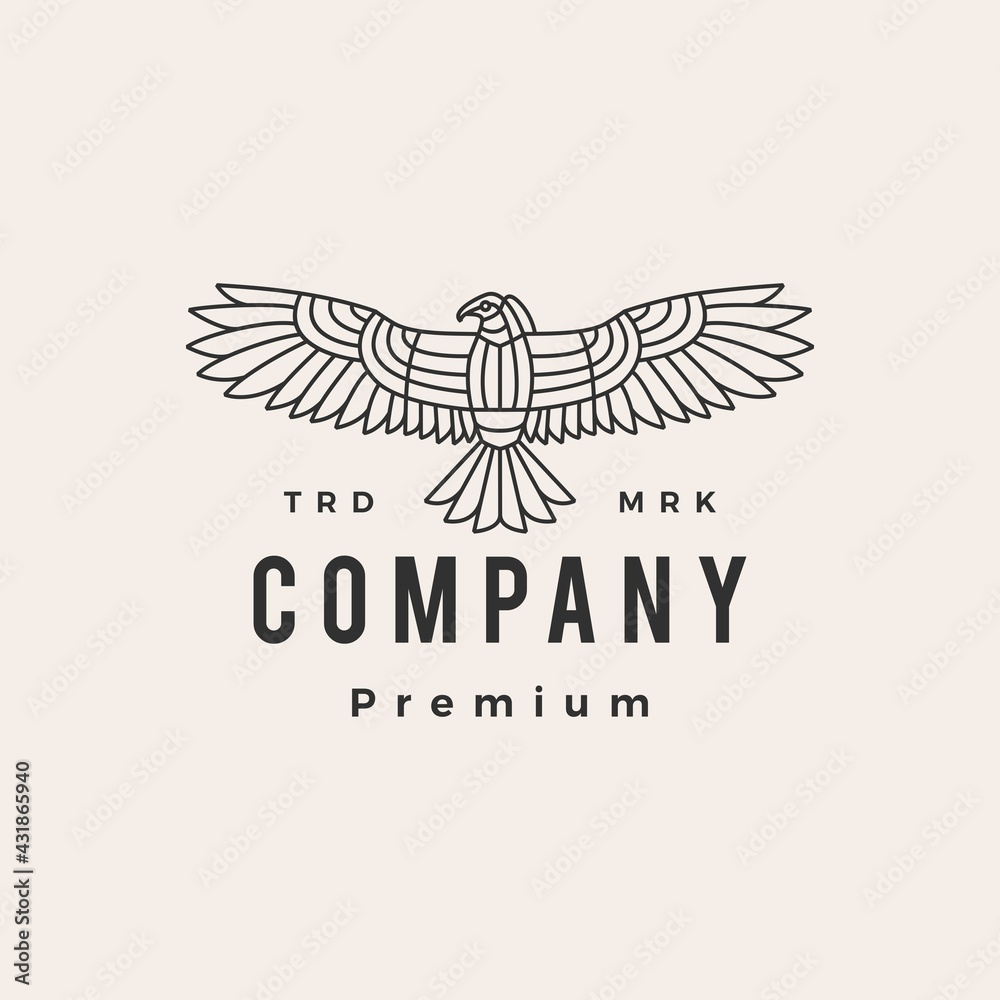 Obraz condor bird hipster vintage logo vector icon illustration fototapeta, plakat