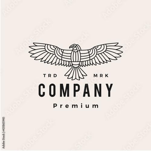 Fototapeta condor bird hipster vintage logo vector icon illustration obraz