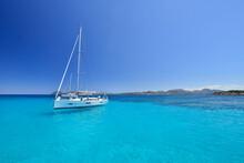 The Bay Of Cala Liscia Ruja In The Costa Smeralda In Northeastern Sardinia