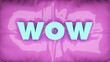 Leinwandbild Motiv 3D Illustration. of a word on pink surface.