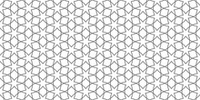 Arabic Lace Seamless Pattern With Linear Stars,wide Wallpaper