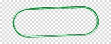 Green Brush Frame Banner Isolated On Transparent Background