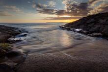 Incoming Tide At Aberavon Beach
