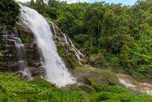 Wachirathan Waterfall : Waterfall In Doi Inthanon National Park, Chiang Mai,Thailand.
