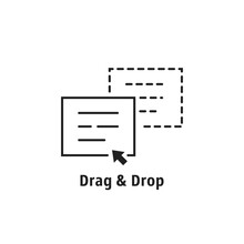 Minimal Thin Line Drag Drop Icon