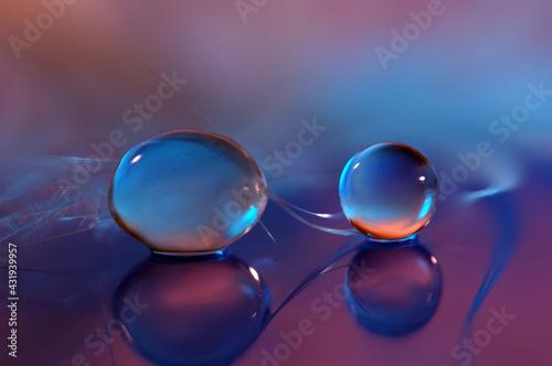 Krople, kule 3D - wodne kulki abstrakcja