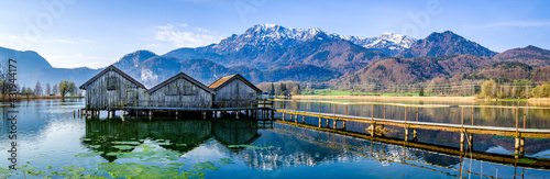 landscape at the lake kochel - bavaria Fotobehang