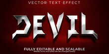 Devil Text Effect; Editable Demon And Hell Text Style