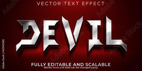 Devil text effect; editable demon and hell text style Fototapeta