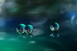 Fototapeta Fototapety do łazienki - 3D krople, kule - kulki abstrakcja