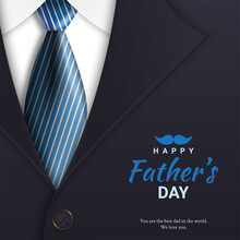 Father's Day Poster Or Banner Template With Tie And Costumes. For Father's Day In Promotion 3d Style And Shopping Templates For Love Dad