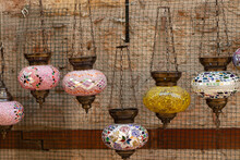 Vintage Mosaics Candle Holders Hanging Outdoor.