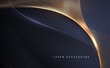 Abstract gold and blue lines background