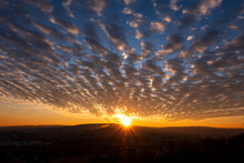 Germany, Wurzburg, Clouds At Sunset