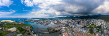 Cityscape By Port Of Port Louis At Mauritius