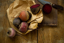 Winter Vegetables On Rustic Wooden Background