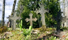 Iron Crosses In The Old Cemetery