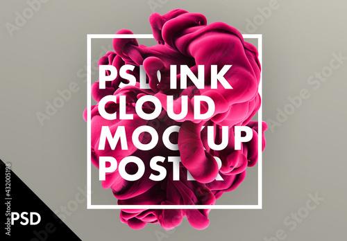 Ink Cloud Text design - fototapety na wymiar