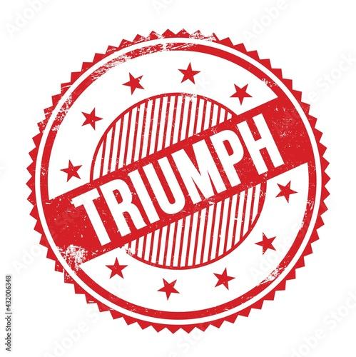 Fotografie, Obraz TRIUMPH text written on red grungy round stamp.