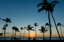Hawaiian Sunset From Ko Olina On The Island Of O'ahu.