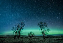Northern Lights Over The High Plains Of Montana.