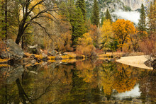 Fall On The Merced River, Yosemite National Park