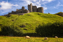 Carreg Cennan Castle Constructed On A High Outcrop In 1248 In The Rural Hamlet Of Llandeilo, Wales
