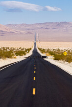 A Long Stretch Of Highway 127 Stretches Across The Desert In Southern California