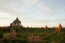 The Sun Rises Over The 2000  Temples And Pagodas At Bagan In The Country Of Burma (Myanmar)