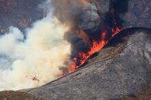 Sky Crane Attacking Rime Fire, Sierra Nevada, California