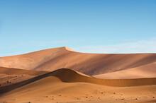 Sand Dunes In Sossusvlei, Namib-Naukluft National Park, Namibia.