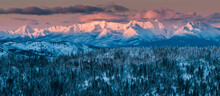 Alpine Glow On The Livingston Range, Montana.