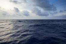 An Image Of The Deep Blue Sea Before Sundown Crossing The Caribbean Sea.