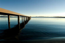 Sunset In Lake Tahoe, California.