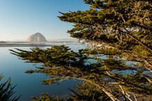 The Famous Morro Rock As Viewed From Across Morro Bay On A Clear Afternoon In Central California.