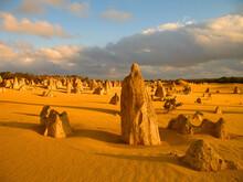 Sunrise At The Pinnacles Desert In Western Australia's Nambung National Park