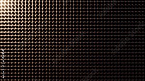 Obraz na plátně Background acoustic soundproof foam illuminated by warm light