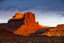 The Rugged Canyons, Sandstone Spires And Mesas Of Canyonlands National Park Near Moab, Utah.