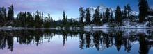Mount Shuksan Is Reflected In A Lake In Late Autumn Near Mount Baker Ski Area.
