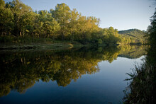 Calm White River In Late Afternoon, Arkansas