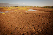A Drying Lakebed In The North Part Of Kenya.