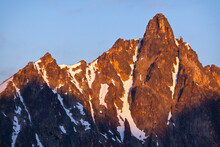 Mount Hardy At Sunrise, Okanogan National Forest, Washington.