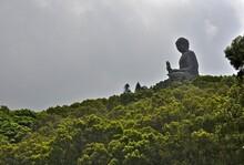 Hong Kong, Lantau Island, Big Buddha Tian Tan Buddha Or The Big Buddha At Po Lin Monastery On Lantau Island Is One Of The Main Cultural Attractions Of Hong Kong.