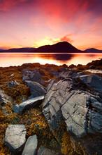 Sunset On Petroglyph Beach In Wrangell, Alaska