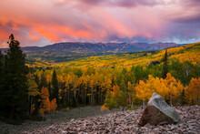 Sunrise Storm From Ohio Pass, Colorado, USA