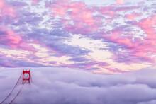 Beautiful San Francisco Golden Gate Bridge Sunset Picture.