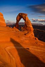 Desert Landscape In Arches National Park, Utah, USA