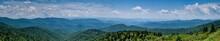 Panoramic Of The Smokey Mountains From The Blue Ridge Parkway, North Carolina